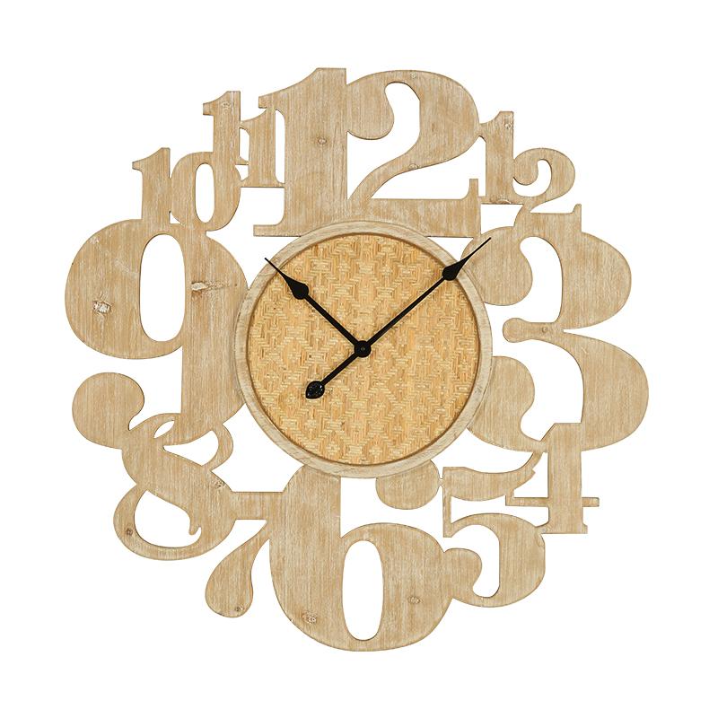 美式乡村客厅个性木质装饰挂钟田园风玄关仿古钟表静音时钟